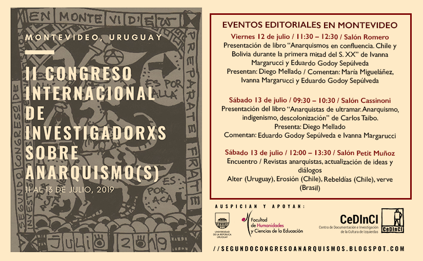 Editorial Eleuterio en Congreso sobre Anarquismos (Uruguay)